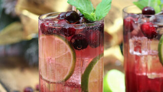 Cranberry Sauce Mojito Cocktail
