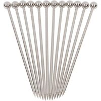 "Stainless Steel Cocktail Picks - 4"" (12pc Set)"