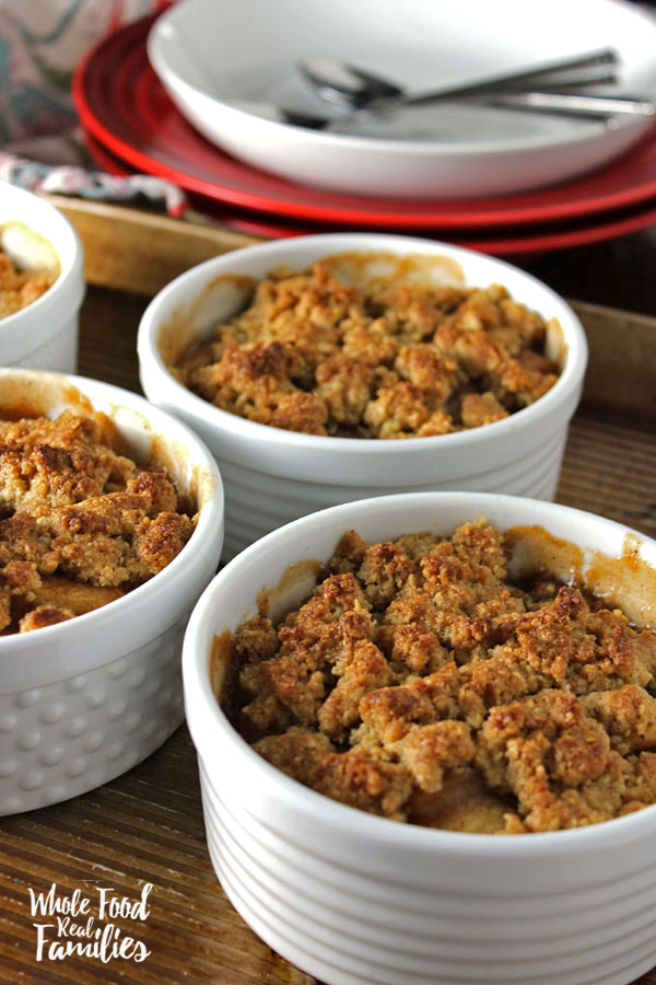 Seasonal Apple Recipes - Apple Crumble in Ramekins