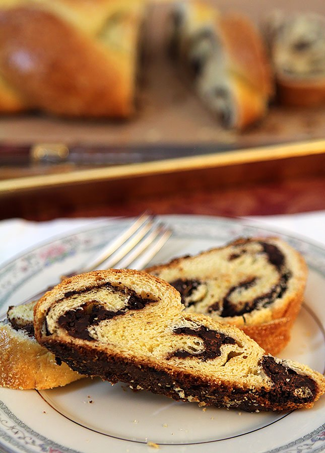 Challah filled with Chocolate