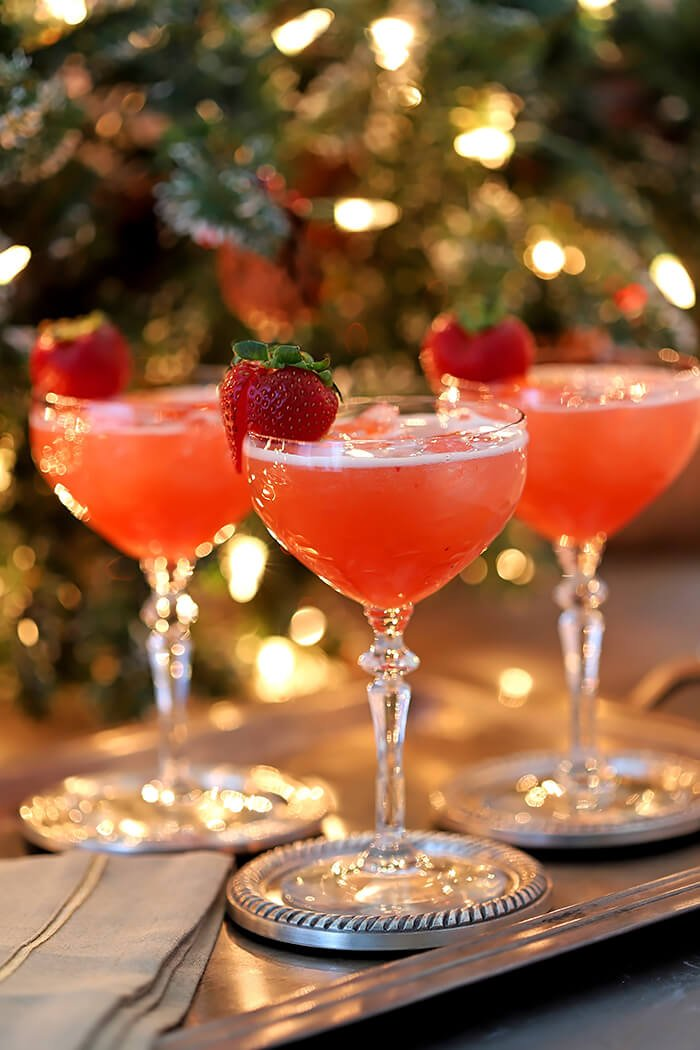 Sparkling Fruit Punch Champagne Cocktail