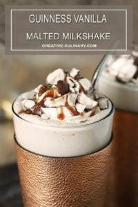 Guinness Vanilla Malted Milkshake with Caramel Syrup