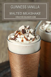 Guinness Vanilla Malted Milkshake With Crushed Malted Milk Balls on Top