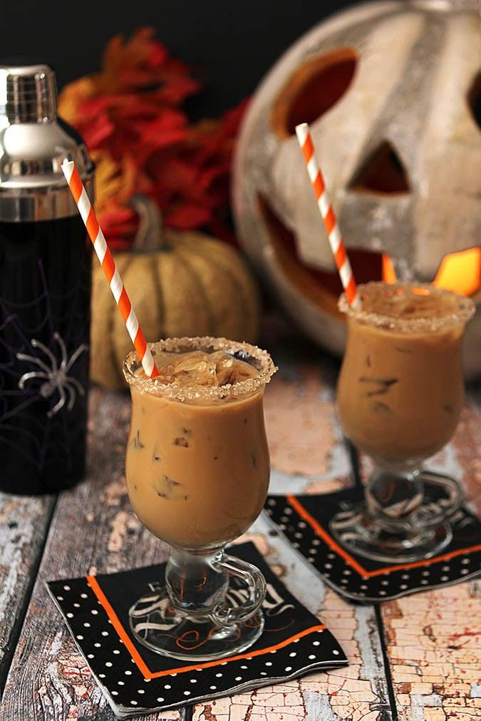 Halloween Rum and Espresso Cocktail