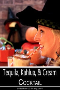 Tequila, Kahlua, and Cream is a Great Cocktail Served for Halloween!