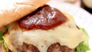 Dubliner Beef Burger with Irish Stout Ketchup
