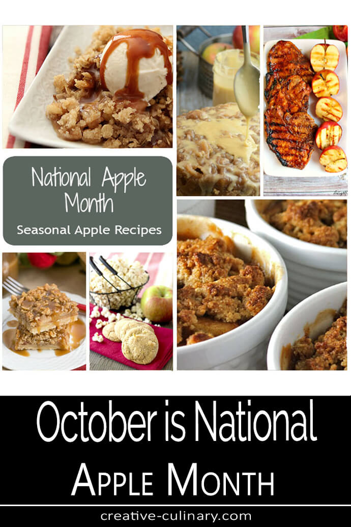 National Apple Month Recipe in a Composite Photo PIN