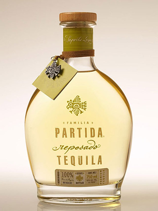 Bottle of Partida Reposado Tequila