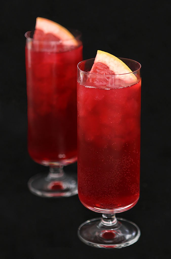 Sparkling Blood Orange and Pomegranate Punch