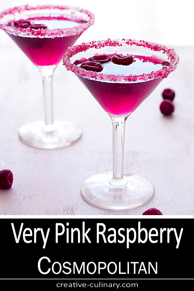 Very Pink Raspberry Cosmopolitan Cocktail PIN