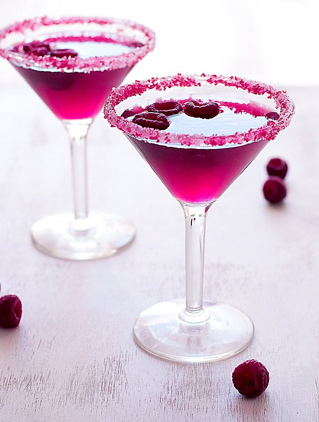Very Pink Raspberry Cosmopolitan Cocktail Creative Culinary