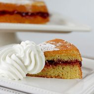 Almond Cake with Boysenberry Jam from Bon Appetit RSVP