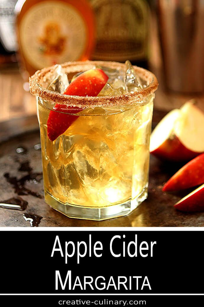 Apple Cider Margarita with Apple Slice Garnish