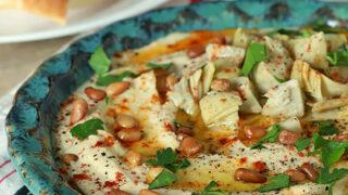 Artichoke and Roasted Garlic Hummus