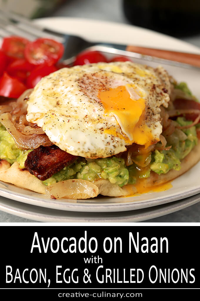 Avocado Toast with Bacon and Egg on Naan PIN 2