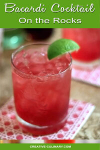 Bacardi Cocktail with Lime Wedge Garnish