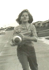 Barbara playing football