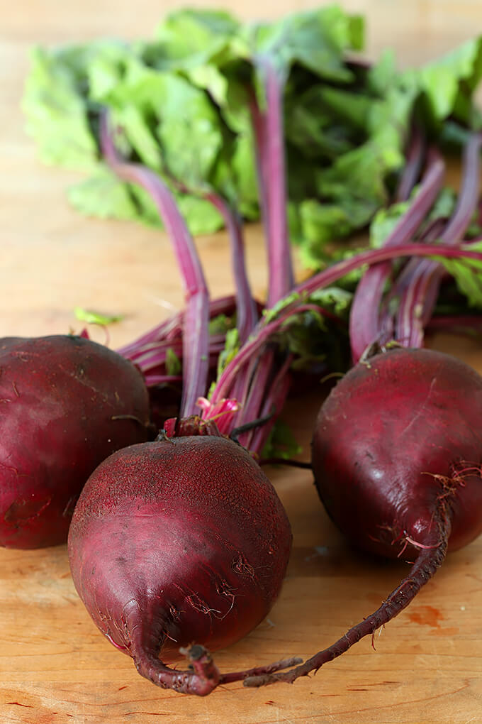 Beets for Roasted Beet Salad with Oranges, Pecans & Feta Cheese