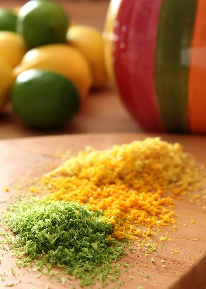 Fresh Lime, Orange, and Lemon Zest
