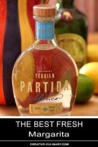 Bottle of Partida Tequila for the Best Fresh Margarita