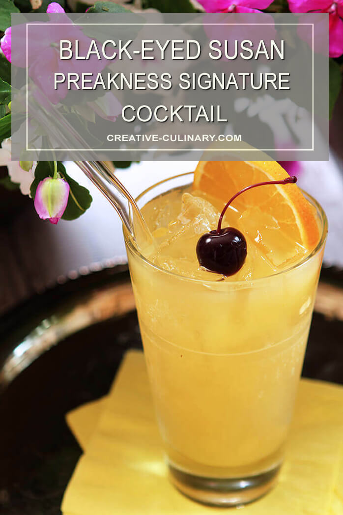 The Black-Eyed Susan - Preakness Signature Cocktail Served with an Orange Slice and a Cherry