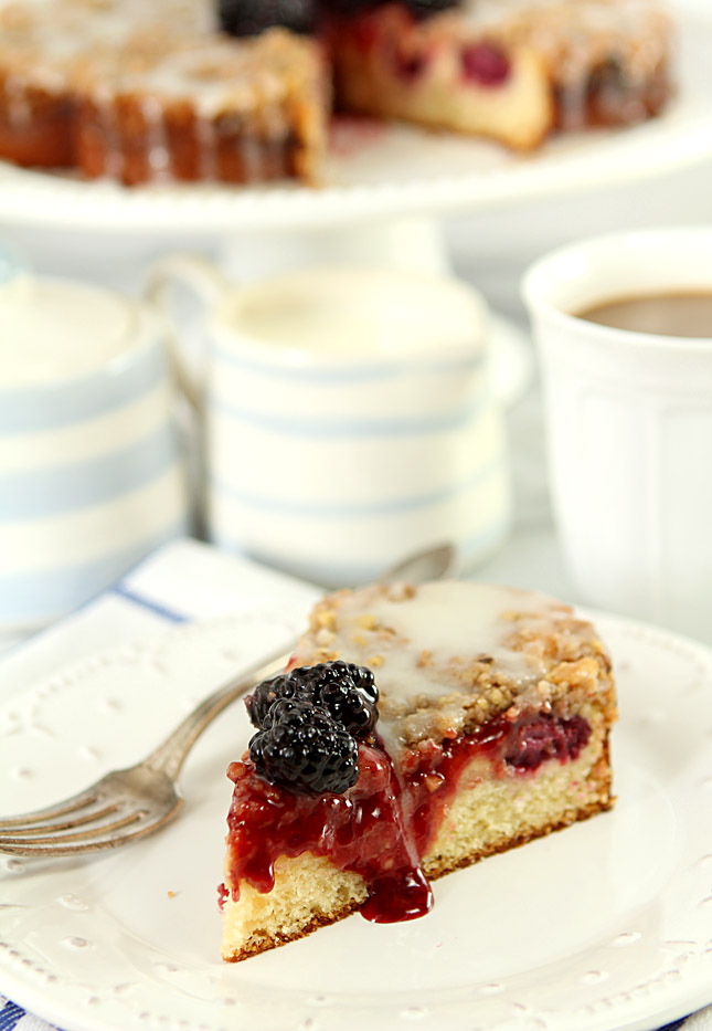 Blackberry Cream Cheese Coffeecake