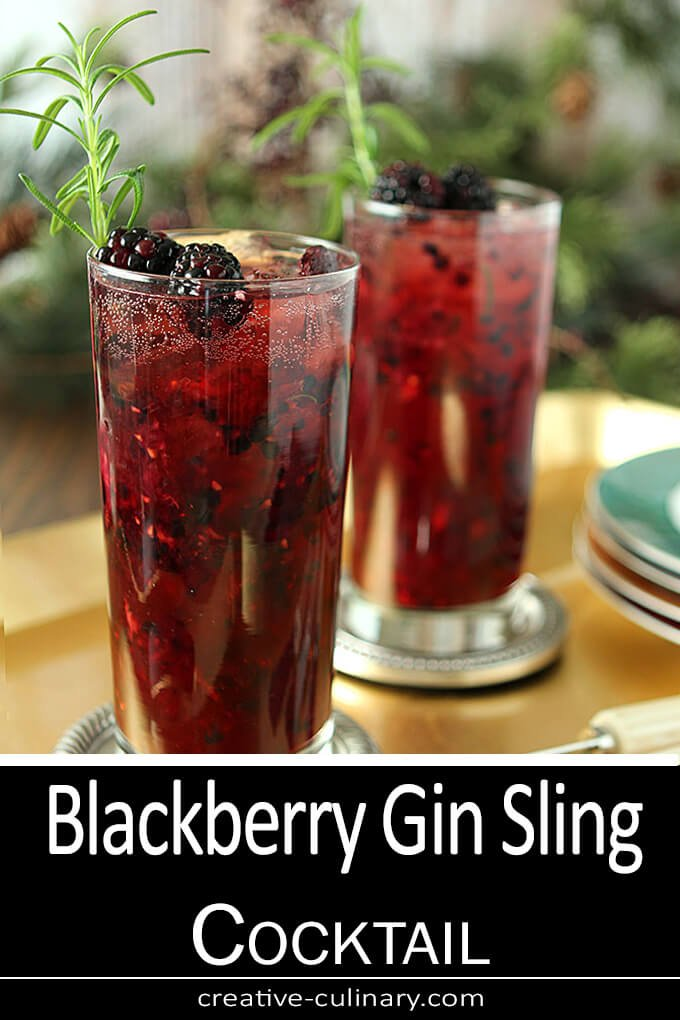 Blackberry Gin Sling Cocktail PIN