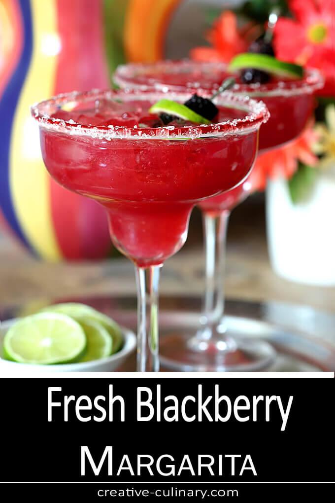 Fresh B lackberry Margarita Cocktail PIN