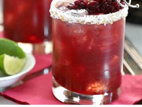 Blackberry Serrano Margarita Cocktail