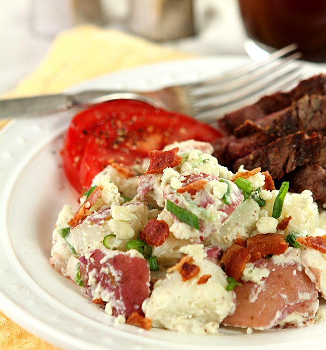 Bacon and Blue Cheese Potato Salad