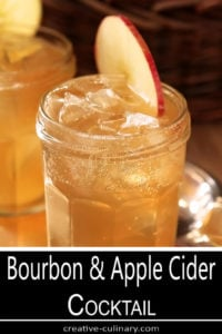 Bourbon and Apple Cider Cocktail with Ginger Beer Closup in Jam