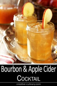 Two Glasses of Bourbon and Apple Cider Cocktail with Ginger Beer