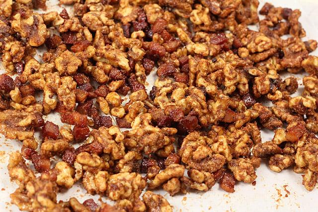 Bacon and Bourbon Walnuts