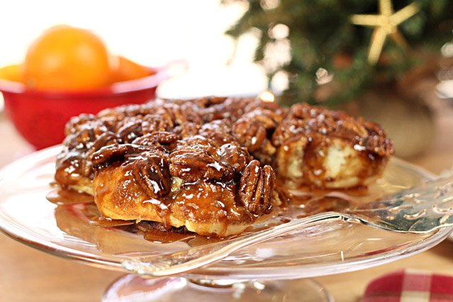 Bourbon Orange Pecan Sticky Buns