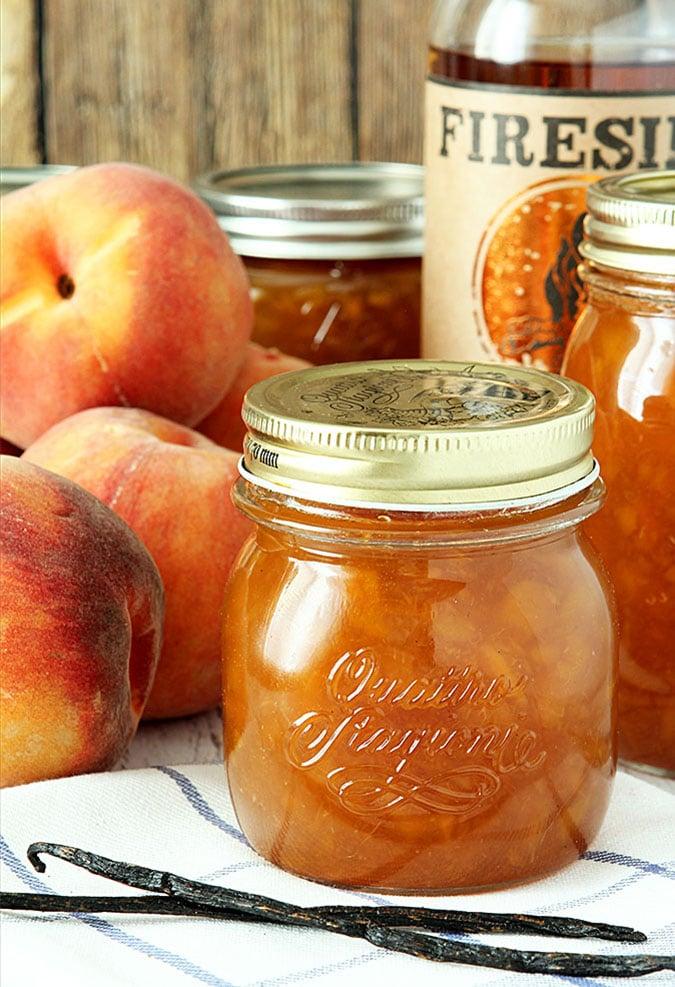 Bourbon Peach Jam with Vanilla Bean
