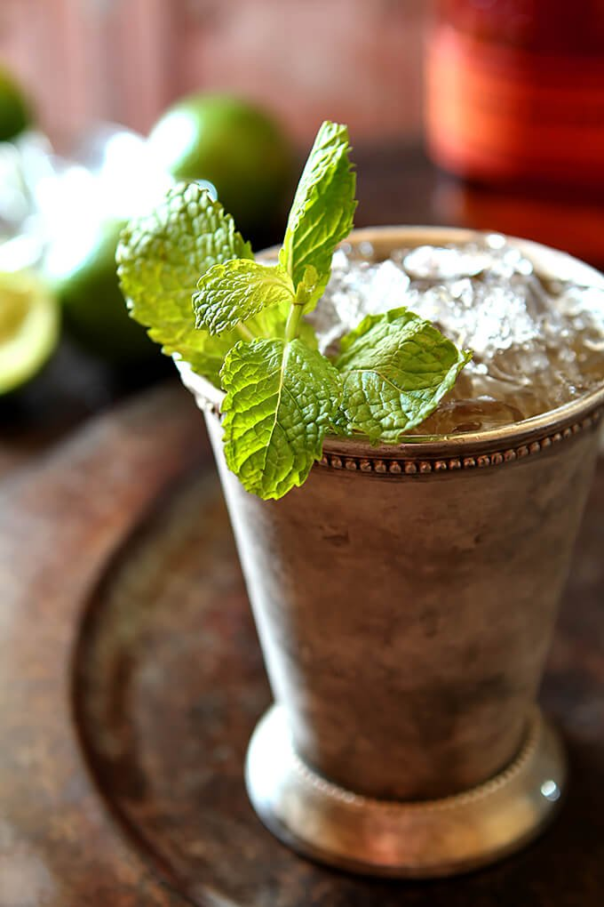 Muscavado and Vanilla Bean Mint Julep in a Julep Cup