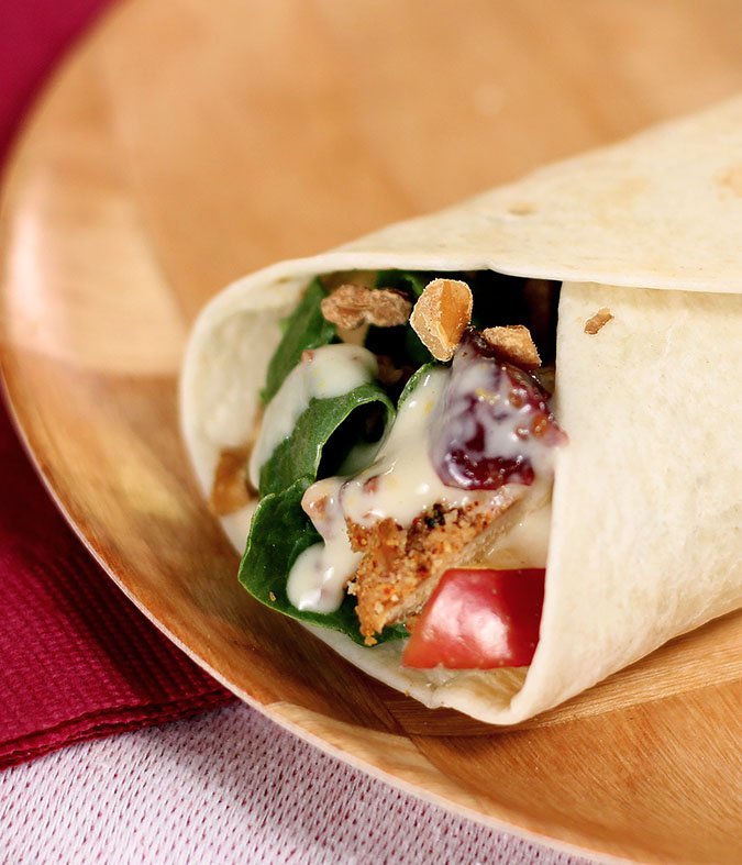 Burger King Chicken Apple and Cranberry Wrap