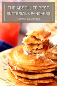 Closeup Bite of The Best Buttermilk Pancakes