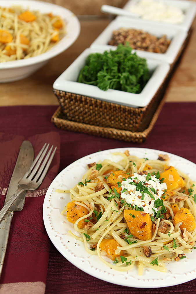 Roasted Butternut Squash with Ricotta and Toasted Walnuts