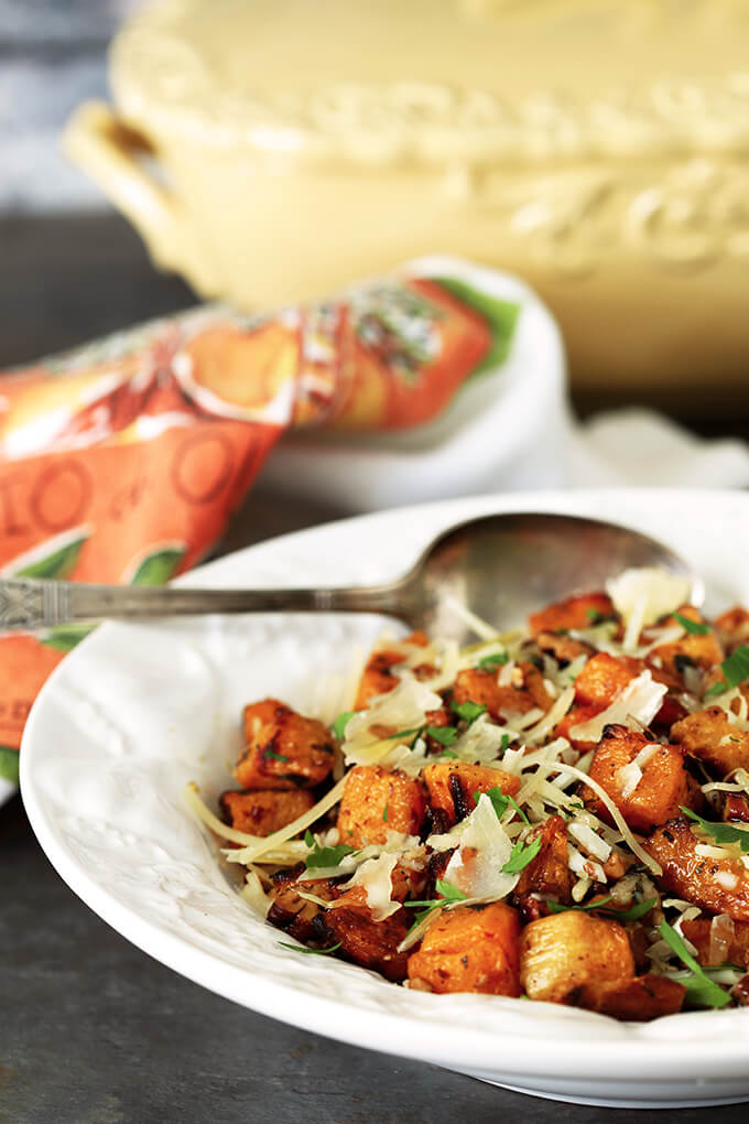 Pecan and Parmesan Roasted Butternut Squash