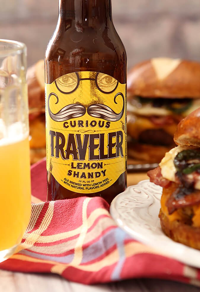 A bottle of Traveler Shandy