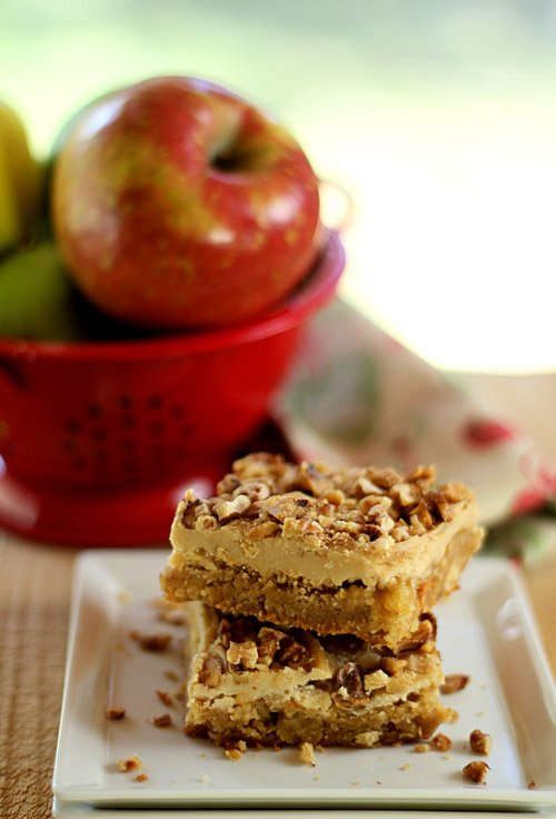 Toffee Apple Bars with Caramel Frosting