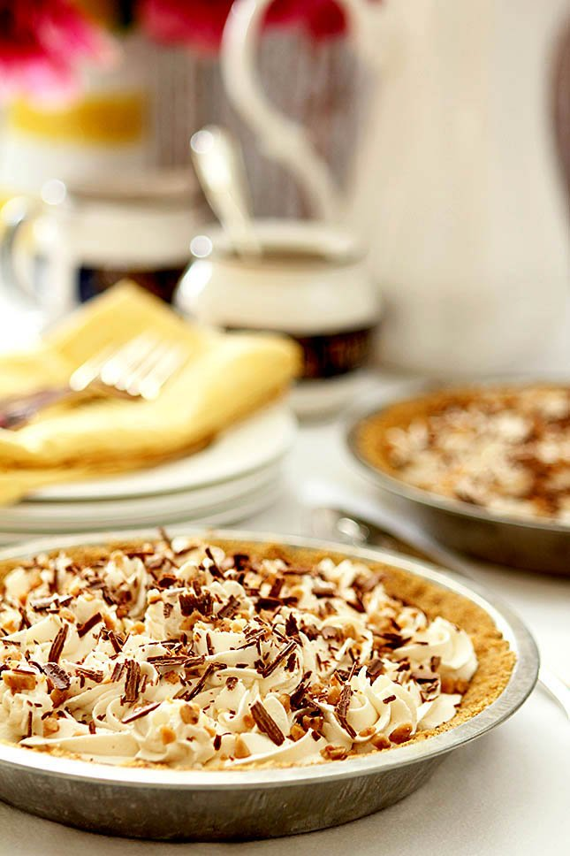 Caramel Banana Pie with Bourbon from @creativculinary