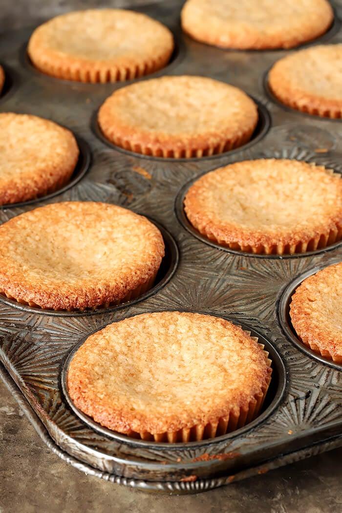 Caramel Corn Cupcakes in Muffin Tin