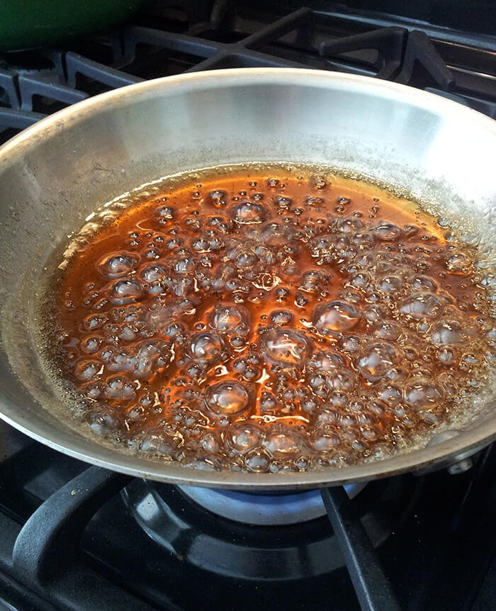 Irish Coffee Caramel Sauce on the Stovetop
