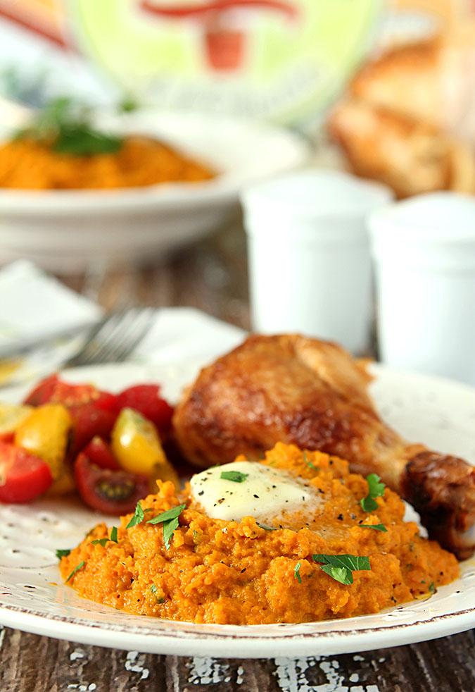 Roasted Carrot and Leek Mash