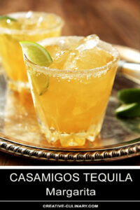 Casamigos Tequila Margarita Cocktails Garnished with Lime