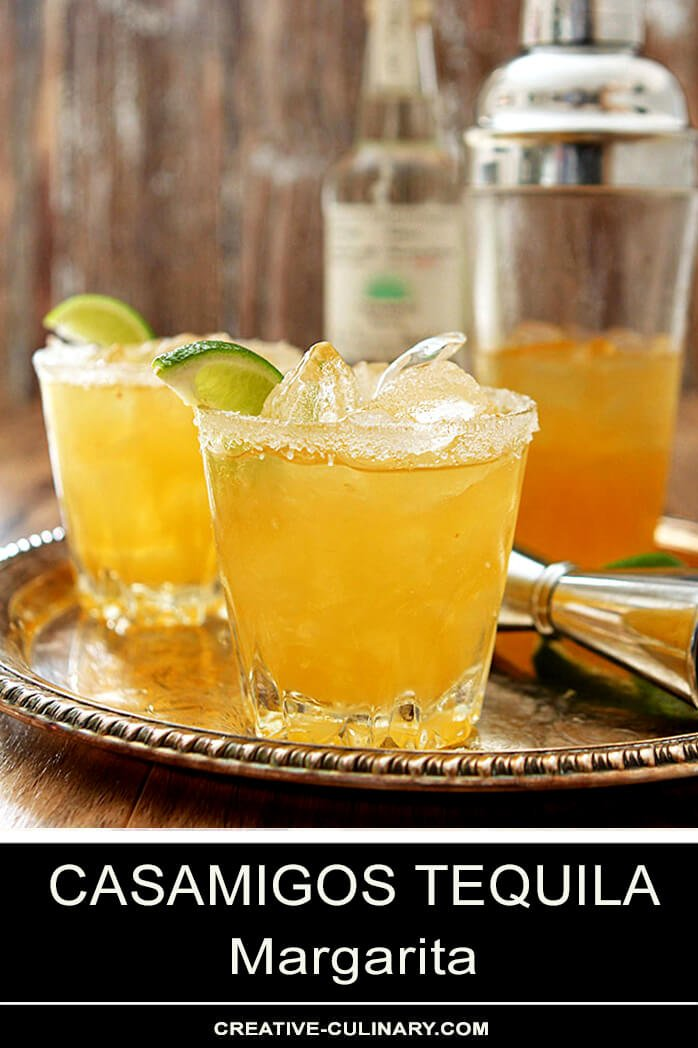 Casamigos Tequila Margarita Cocktails on Serving Tray