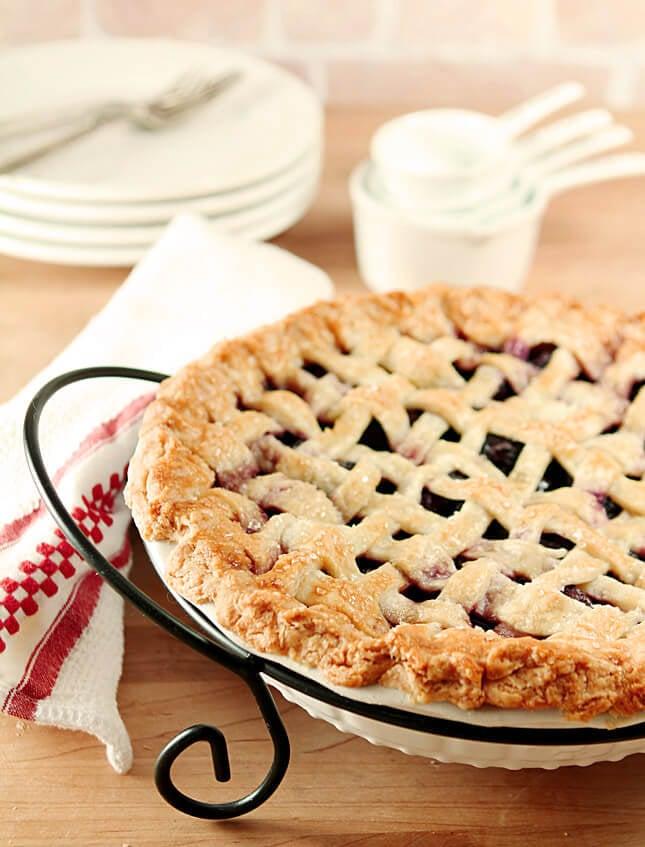 Homemade Cherry Pie with Lattice Crust