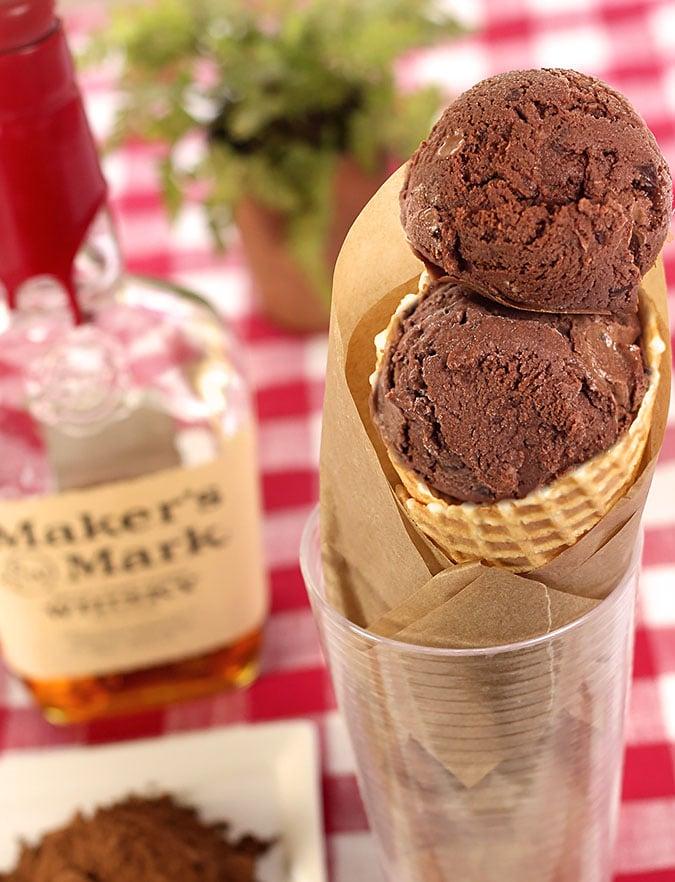 Chocolate Gelato with Bourbon and Chocolate Shards
